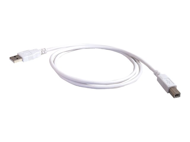 C2G 3m USB A to B Cable - Printer Cable - USB Cable - USB 2.0 - 10ft White