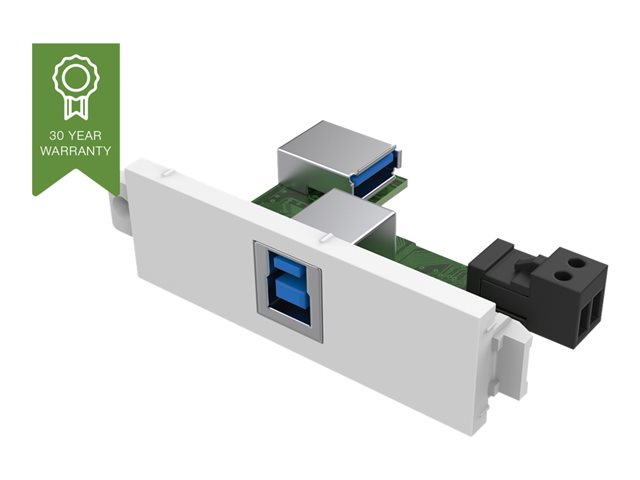 VISION TechConnect 3 USB-b module with active booster circuit - Plaque modulaire enclenchable - USB Type B