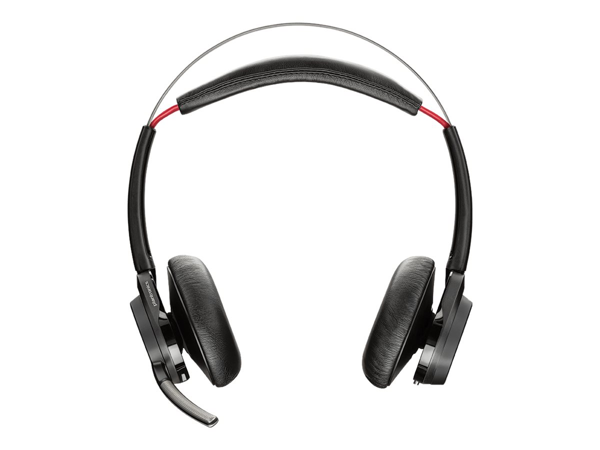 Plantronics Voyager Focus UC B825-M - Pas de support de charge - casque - sur-oreille - Bluetooth - sans fil - Suppresseur de bruit actif - pour Microsoft Lync