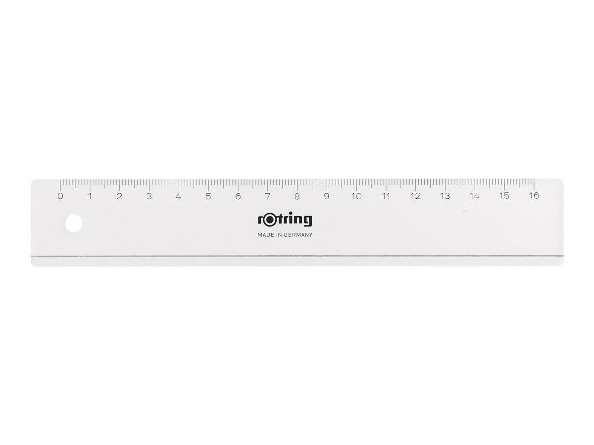 Rotring Centro - Lineal - 16 cm - Crystal Clear - Kunststoff
