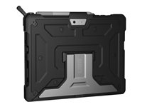 UAG Metropolis Series Rugged Case for Microsoft Surface Go - Black - Back cover for tablet - rugged - aluminium - black - for Microsoft Surface Go