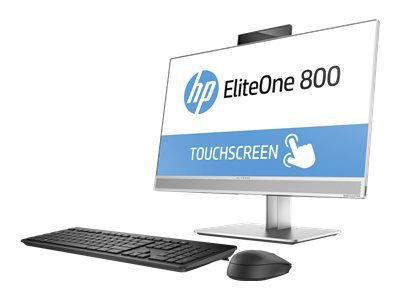 HP EliteOne 800 G3 - All-in-one - 1 x Core i5 7500 / 3.4 GHz - RAM 8 GB - HDD 1 TB - DVD-Writer - HD Graphics 630 - GigE - WLAN: 802.11a/b/g/n/ac, Bluetooth 4.2 - Win 10 Pro 64-bit - vPro - monitor: LED 23.8 1920 x 1080 (Full HD) touchscreen - keyboard: UK - promo