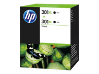 HP 301XL Black Ink Cartridge Twin Pack, HP 301XL Black Ink Cartr