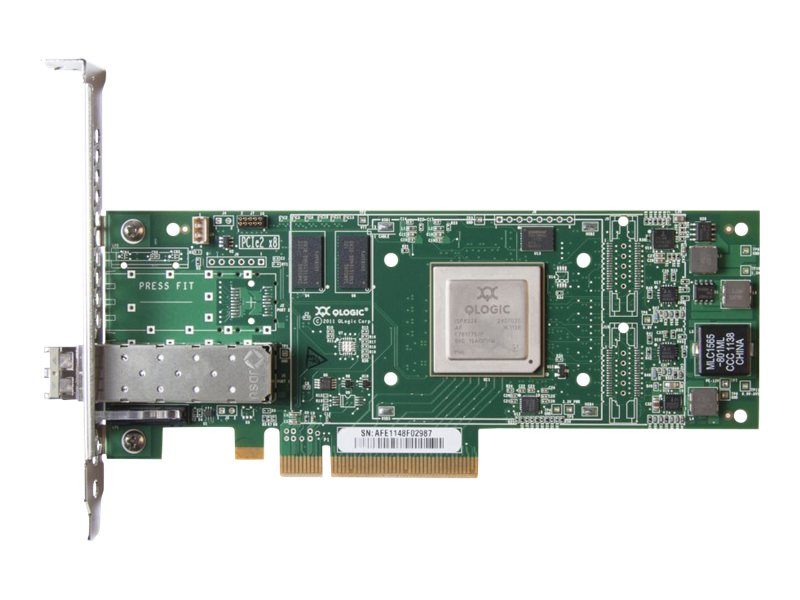 HPE StoreFabric SN1000Q 16Gb Single Port - Hostbus-Adapter - PCIe 3.0 x4 Low-Profile - 16Gb Fibre Channel - für Modular Smart Array 2040; ProLiant DL360p Gen8, DL385p Gen8, ML350p Gen8; StoreE