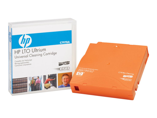 HPE Ultrium Universal Cleaning Cartridge - LTO Ultrium - orange - cartouche de nettoyage - pour HPE T950, T950 3, T950 6; StoreEver MSL2024, MSL3040, MSL4048, MSL6480; SureStore Ultrium
