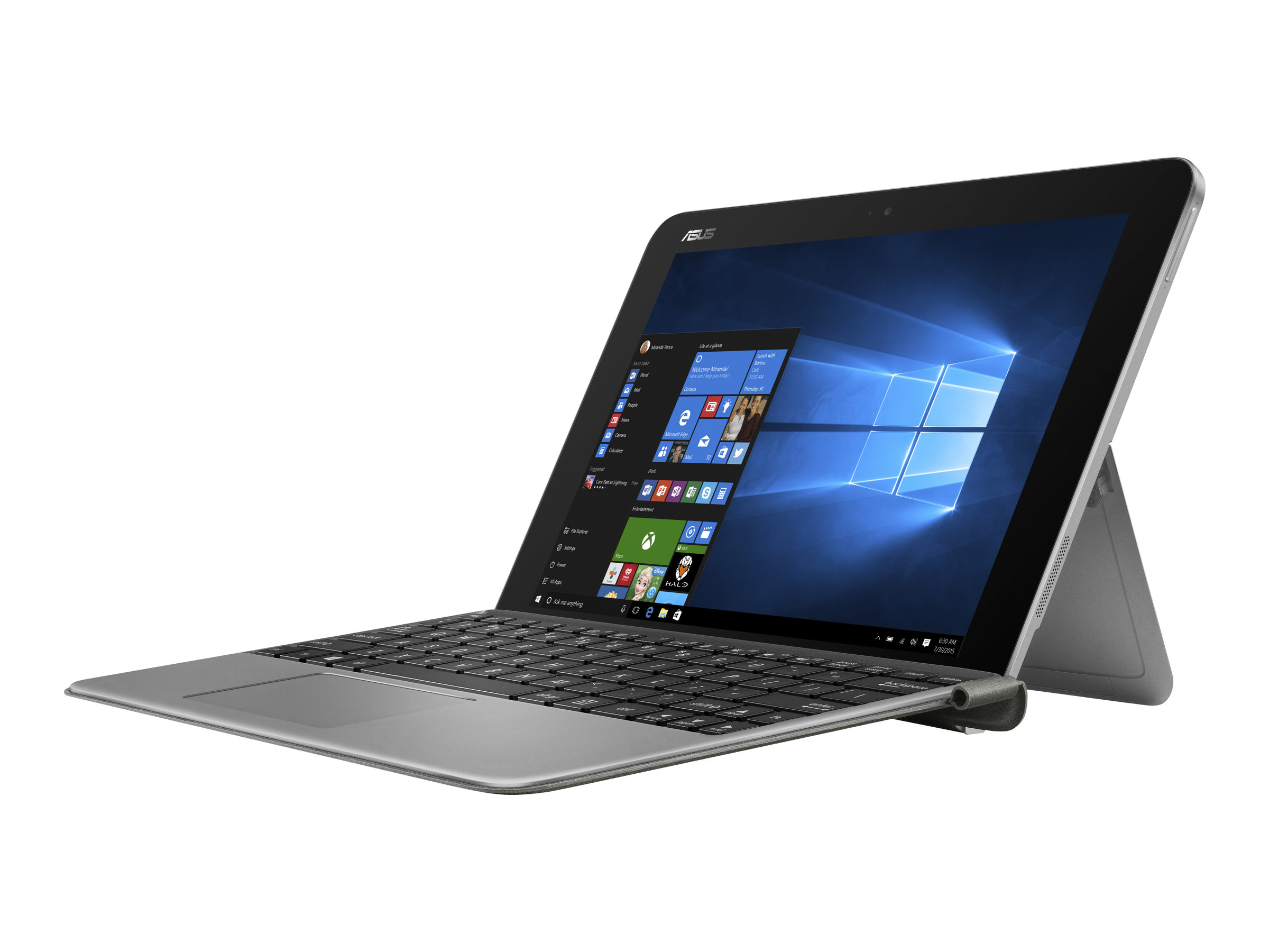 ASUS Transformer Mini T102HA GR022T - Tablet - mit Tastatur-Dock - Atom x5 Z8350 / 1.44 GHz - Win 10 Home 64-Bit - 4 GB RAM