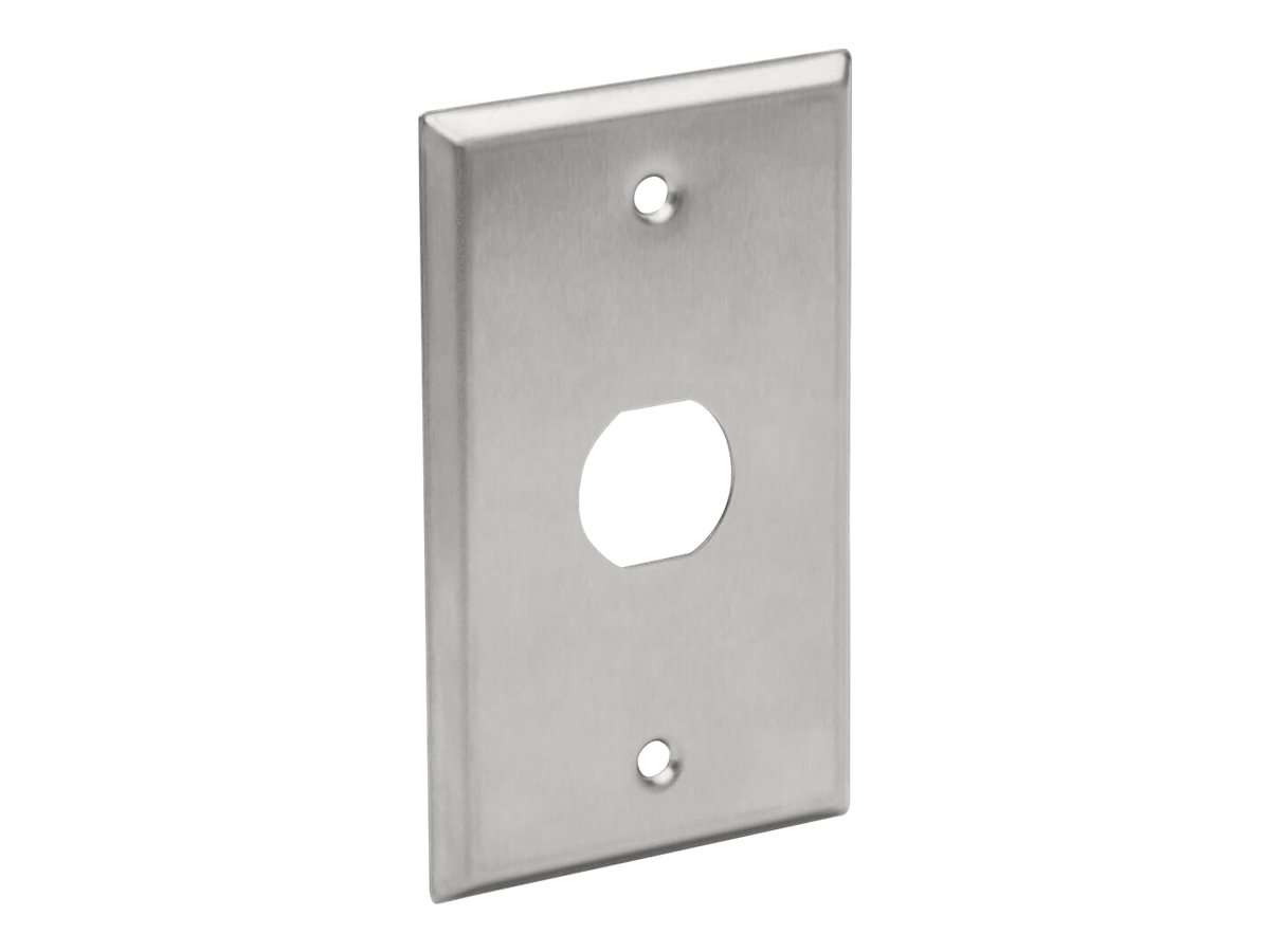 Tripp Lite RJ45 Bulkhead Wall Plate 1 Cutout Industrial Metal Single Gang TAA - faceplate