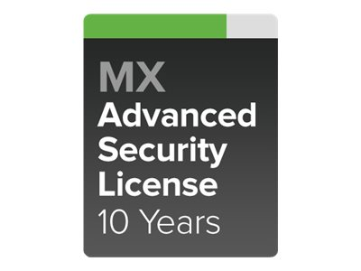 Cisco Meraki MX80 Advanced Security - subscription license (10 years) - 1  license