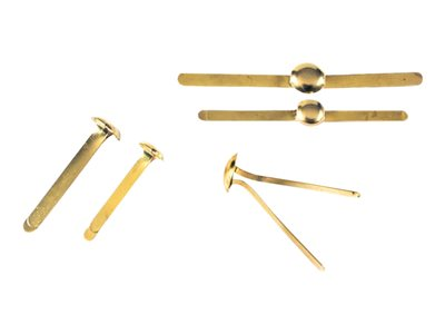 Attaches & Coins lettres Exacompta - 40 Attaches parisiennes - 24 mm - or