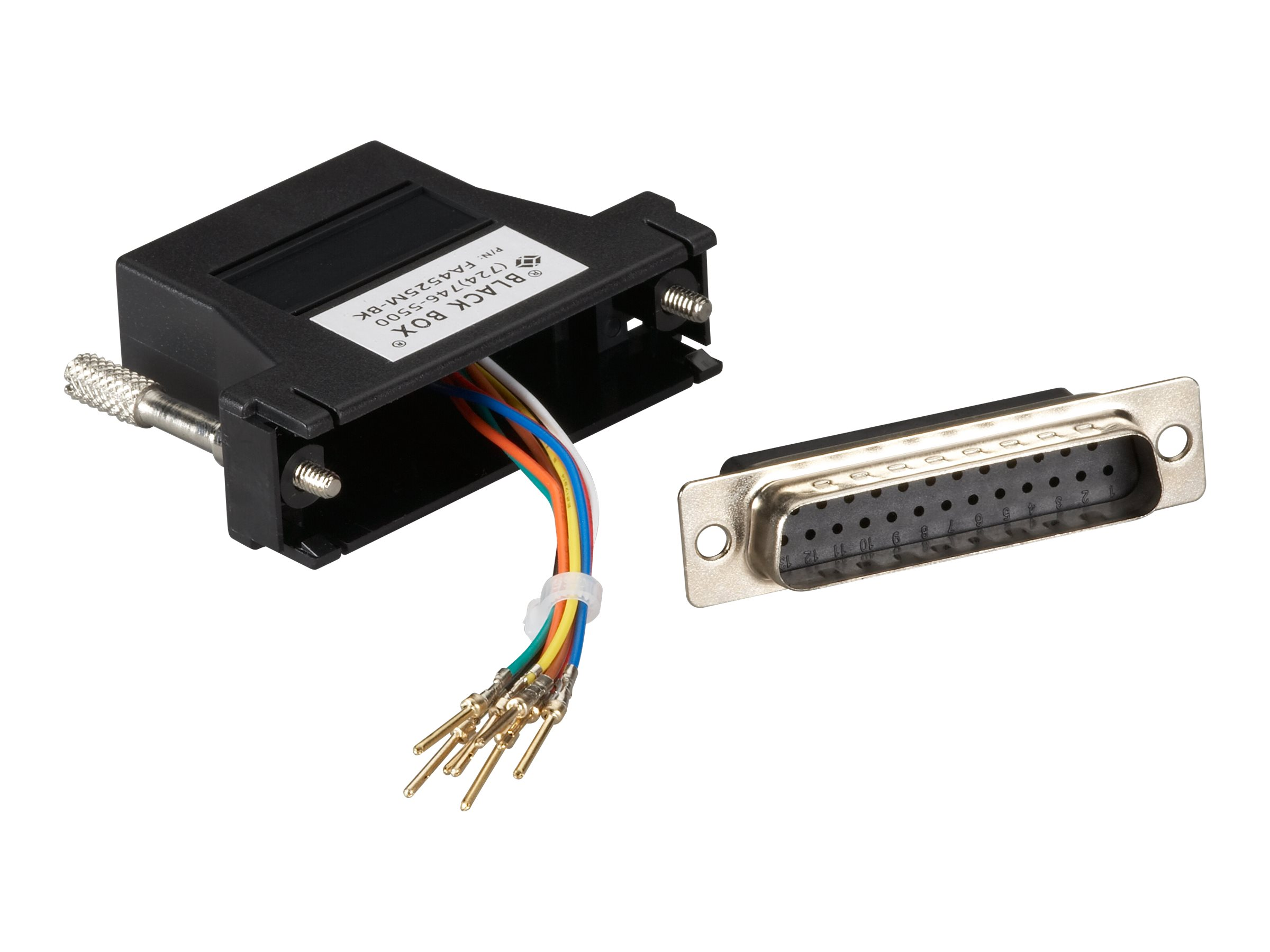 Black Box Colored Modular Adapter serial RS-232 cable - black