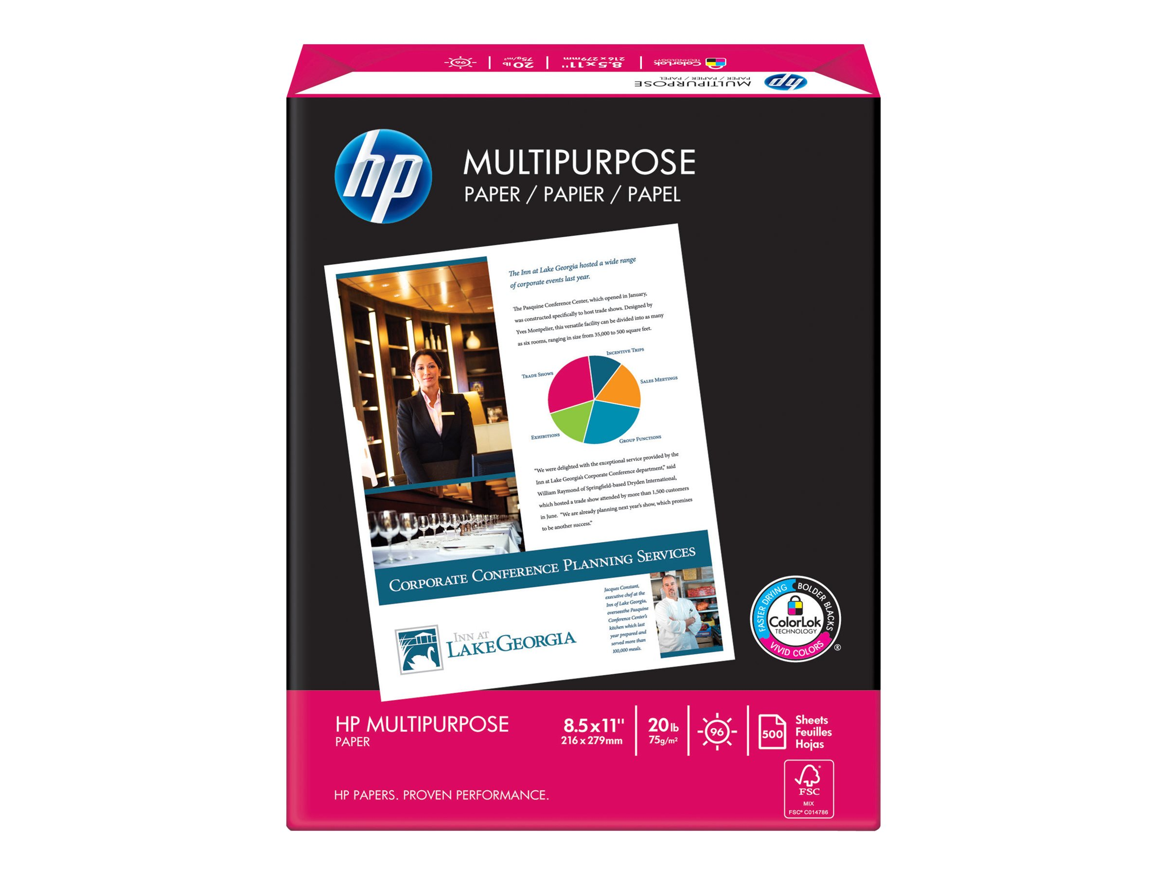 HP Multipurpose Paper - paper - 2500 pcs. - Letter - 75.2 g/m² - remarketed