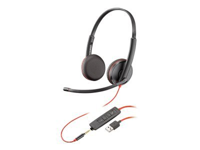 Poly Blackwire C3225 USB - 3200 Series - headset - on-ear - wired - USB, 3.5 mm jack - noise isolating