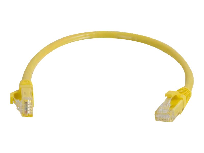 C2G Cat5e Snagless Unshielded (UTP) Network Patch Cable - patch cable - 15.2 cm - yellow