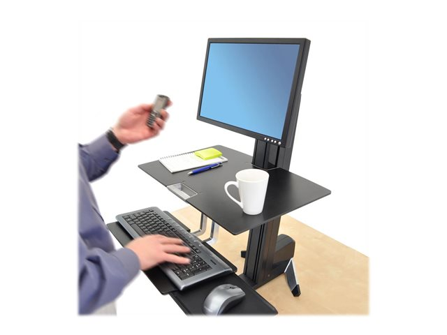 Ergotron WorkFit-S Single LD Workstation with Worksurface - pied