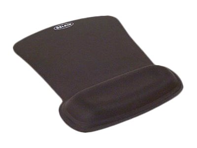 Belkin WaveRest Gel Mouse Pad Mouse pad with wrist pillow - black - Mouse pad with wrist pillow - black