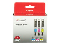 Canon CLI-251 XL 3 Color Pack 3-pack XL yellow, cyan, magenta original ink tank