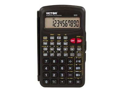 Victor 920 Scientific calculator 10 digits solar panel, battery black