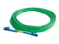 C2G 1m LC-LC 9/125 Duplex Single Mode OS2 Fiber Cable - Green - 3ft