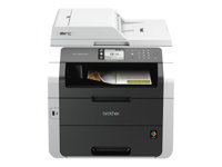 Brother MFC-9340CDW - Multifunction printer - colour - LED - Legal (216 x 356 mm) (original) - A4/Legal (media) - up to 22 ppm (copying) - up to 22 ppm (printing) - 250 sheets - 33.6 Kbps - USB 2.0, LAN, Wi-Fi(n), USB host