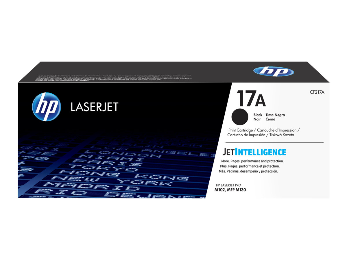 HP 17A - black - original - LaserJet - toner cartridge (CF217A)