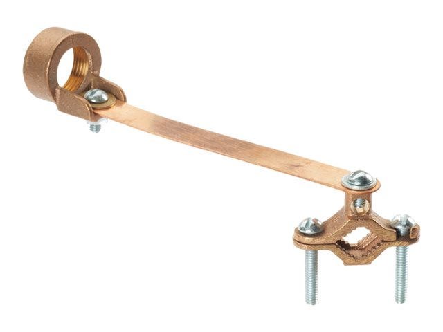 Panduit StructuredGround Mechanical Connectors Bronze Ground Clamp for Conduit with Strap - grounding clamp kit