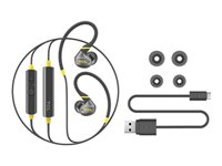 TCL ACTV100BTBK Earphones with mic in-ear over-the-ear mount Bluetooth wireless