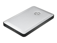 G-Technology G-DRIVE mobile USB GDRU3EA10001BDB - Hard drive - 1 TB - external (portable) - USB 3.0 - 7200 rpm - buffer: 8 MB - silver