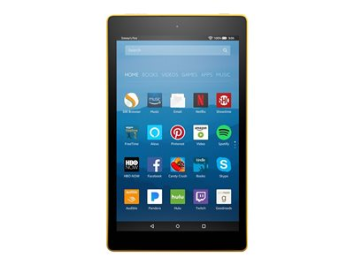 Amazon Fire HD 8 Tablet Fire OS 16 GB 8INCH IPS (1280 x 800) microSD slot canary yellow