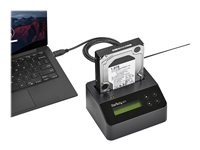 """StarTech.com USB 3.0 Hard Drive Eraser Dock for 2.5"""" & 3.5"""" SATA SSD HDD + 4Kn Drive - LCD/ RS232 - Secure Erase HDD Wiper Docking Station (SDOCK1EU3P2) - Hard drive eraser - 2.5"""" / 3.5"""" - SATA 6Gb/s - black - for P/N: SVA12M5NA"""