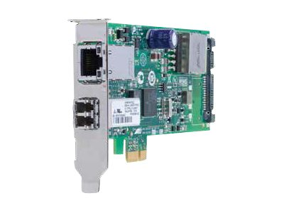 Allied Telesis AT-2911GP/SFP - Netzwerkadapter - PCIe 2.0 Low-Profile - SFP (mini-GBIC) x 1 + Gigabit Ethernet (PoE+) x 1