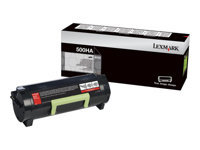 Lexmark 500HA - High Yield - black - original - toner cartridge LCCP - for Lexmark MS310d, MS310dn, MS312dn, MS315dn