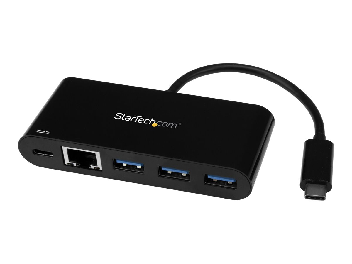 StarTech.com USB C to Ethernet Adapter - 3 Port - with Power Delivery (USB PD) - Power Pass Through Charging - USB C Ad…