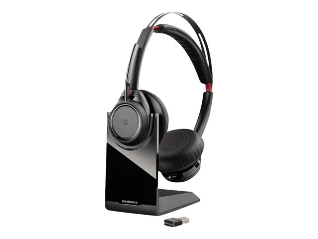 Poly - Plantronics Voyager Focus UC B825 - Headset - on-ear - Bluetooth - wireless - active noise canceling - USB-A via Bluetooth adapter - UC Standard version