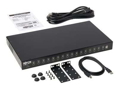 Tripp Lite 16-Port USB Charging Station with Syncing Function - 5V 40A / 200W USB Charger Output, TAA