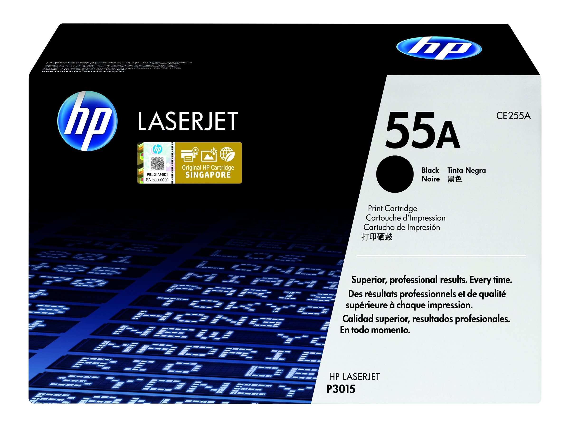 HP 55A - black - original - LaserJet - toner cartridge (CE255A)
