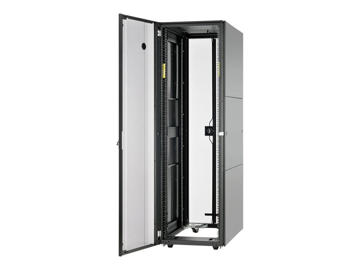 HPE Advanced Series Racks 42U 600mm x 1075mm Kitted Advanced Pallet Rack with Side Panels and Baying - Schrank - Schwarz - 42U - 48.3 cm (19