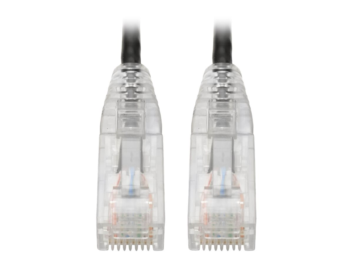 Tripp Lite Cat6 UTP Patch Cable (RJ45) - M/M, Gigabit, Snagless, Molded, Slim, Black, 6 in. - patch cable - 15.2 cm - b…