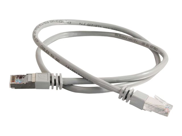 Image of C2G Cat5e Booted Shielded (STP) Network Patch Cable - patch cable - 4 m - grey