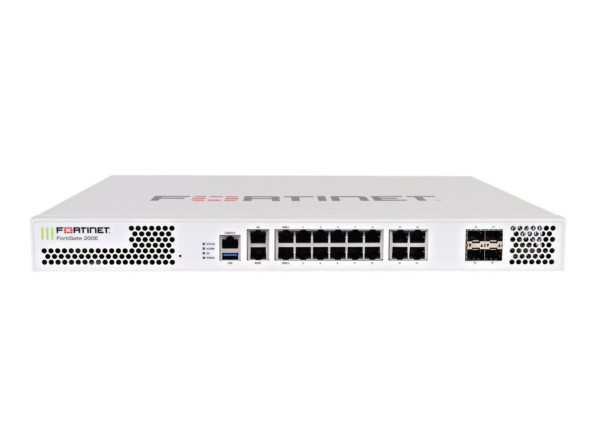Fortinet FortiGate 200E - UTM Bundle - security appliance - with 1 year FortiCare 24X7 Comprehensive Support + 1 year F…