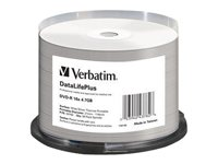 Verbatim DataLifePlus - 50 x DVD-R - 4.7 Go 16x - surface imprimable thermique large - spindle