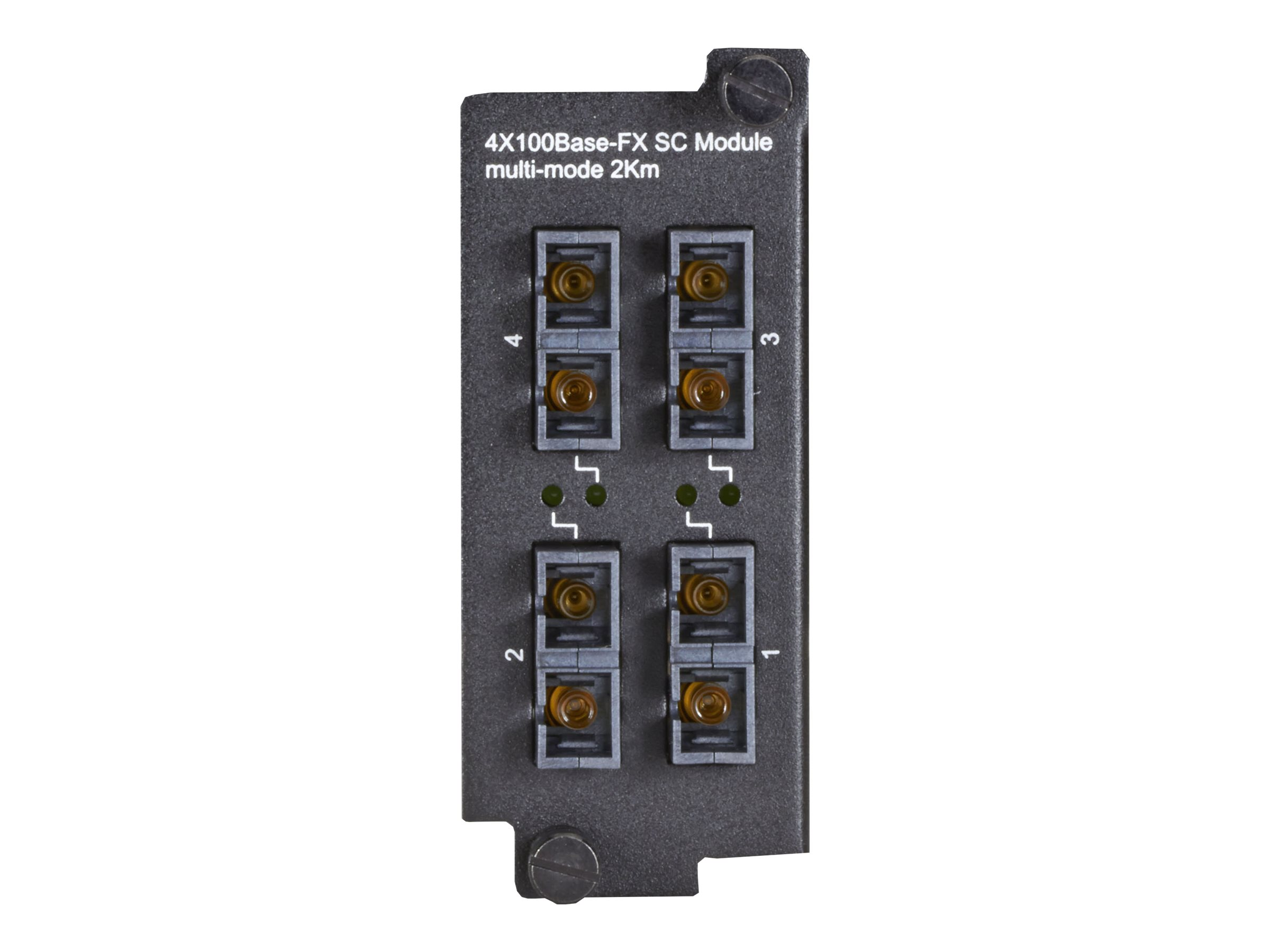 Black Box LE2700 Series Hardened Managed Modular Switch Module - switch - 4 ports - managed - plug-in module