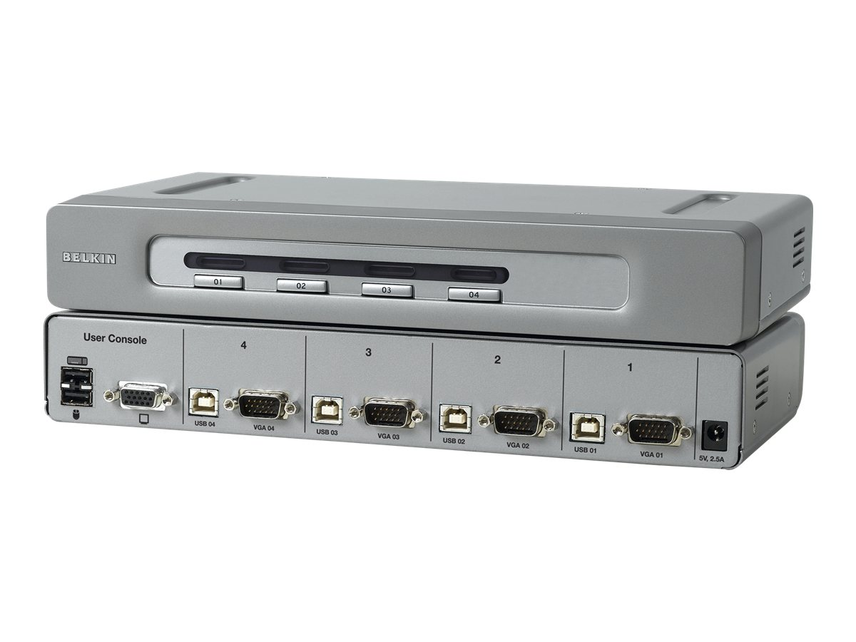 Belkin OmniView Secure 4-Port KVM Switch - KVM-Switch - 4 x KVM port(s) - 1 lokaler Benutzer - Desktop