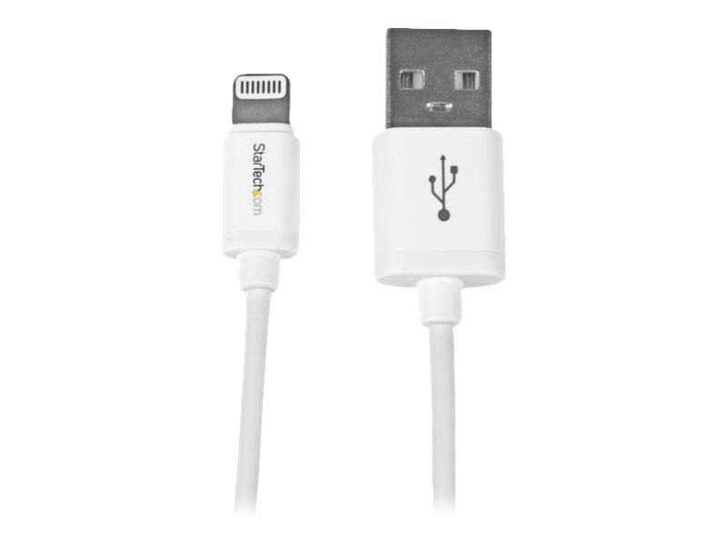 StarTech.com 1m (3ft) White Apple 8-pin Lightning Connector to USB Cable for iPhone / iPod / iPad - Charge and Sync Cab…