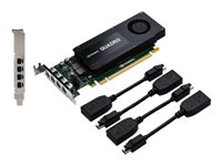 NVIDIA Quadro K1200 for DisplayPort - Carte graphique - Quadro K1200 - 4 Go GDDR5 - PCIe 2.0 x16 profil bas - 4 x Mini DisplayPort