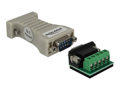 Converter 1 x Serial RS-232 DB9 female to 1 x Serial RS-422/485 DB9 male with ESD protection 15 kV
