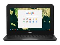 """Dell Chromebook 11 3180 - 180° hinge - Celeron N3060 / 1.6 GHz - Chrome OS - 4 GB RAM - 16 GB eMMC - 11.6"""" 1366 x 768 (HD) - HD Graphics 400 - Wi-Fi - black - BTS - with 1 Year Dell Collect and Return Service"""