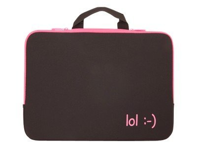 Urban Factory Sleeve Laptop 15INCH Fuschia INCHlolINCH lettering Notebook sleeve 15INCH fuchsia