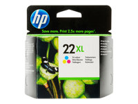 HP 22XL Tri-colour Inkjet Print Cartridge, HP 22XL Tri-colour In