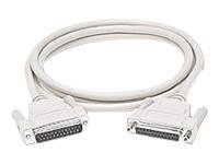 C2G Serial cable DB-25 (M) to DB-25 (F) 25 ft white