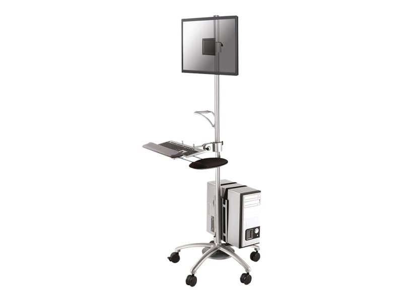 NewStar Mobile Work Station Floor Stand FPMA-MOBILE1800 - chariot
